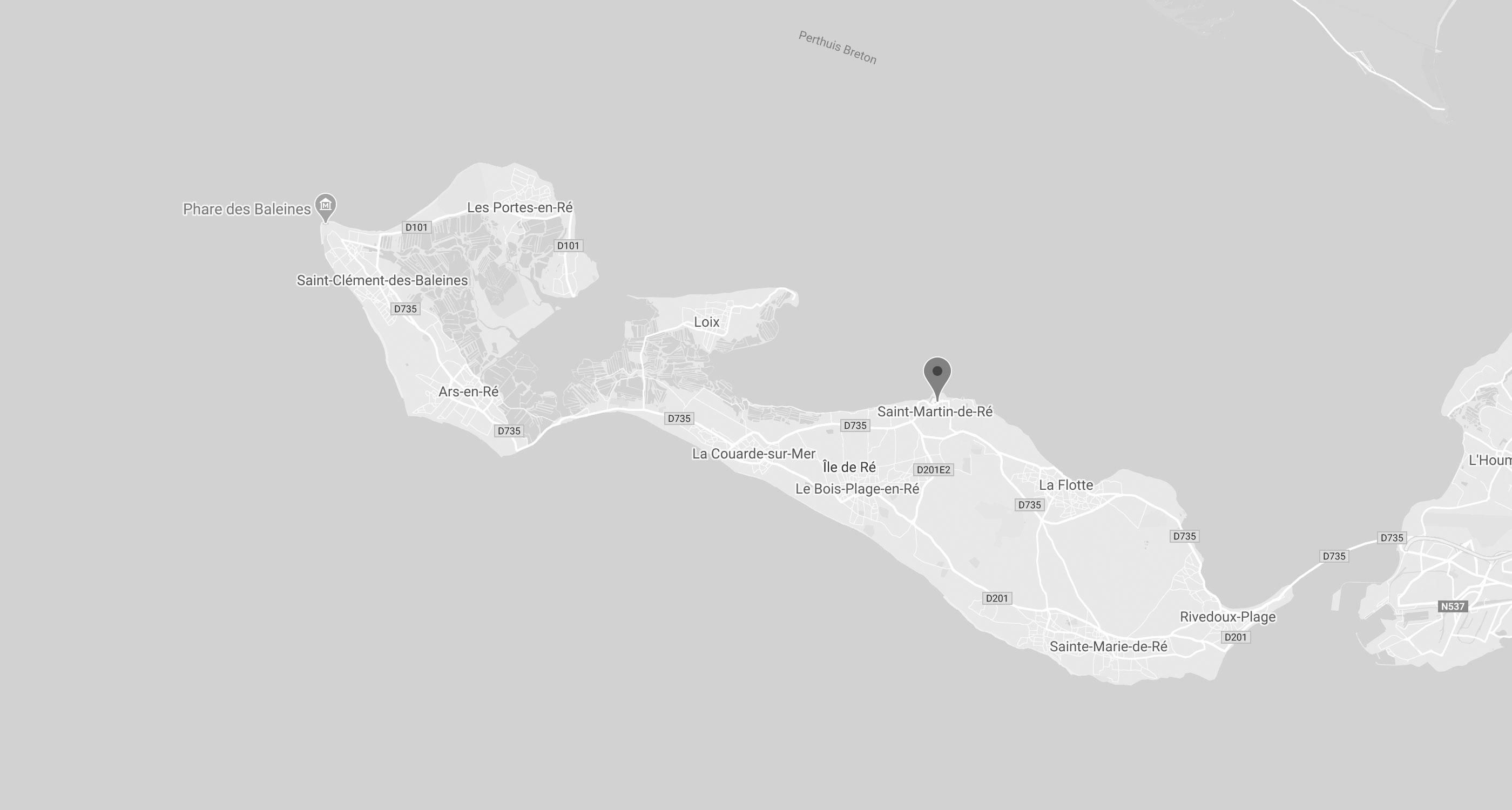 карта роскошный отель Villa Clarisse в Иль-де-Ре